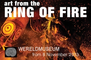 """Art from the Ring of Fire"", exposition au Wereldmuseum, Rotterdam, jusqu'en avril 2014."
