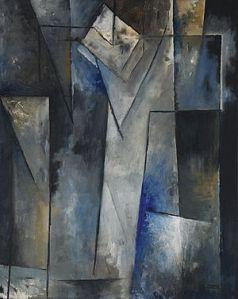 « Jeux de lumière », 1948. Huile sur toile, 81 cm x 65 cm. Signée en bas à droite, datée au dos : 28.7.1948. © Coll. MET.