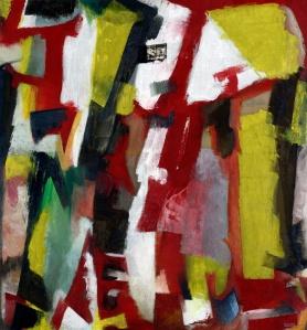 « Rouge », 1951. Huile sur toile. © Mamac, Liège, coll. de la communauté française de Belgique, donation Fernand Graindorge.