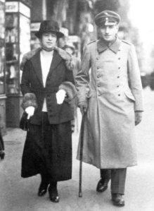 Alfred Flechtheim et Betty Goldschmidt en 1917.