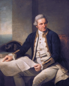 Portrait de James Cook, par Nathaniel Dance-Holland, 1775-1776. Huile sur toile, 127 x 101,6 cm. © National Maritime Museum, Greenwich, Londres, Greenwich Hospital Collection.