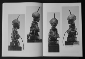 """Pages 228-229, """"Songye, RDC, statuette masculine""""."""