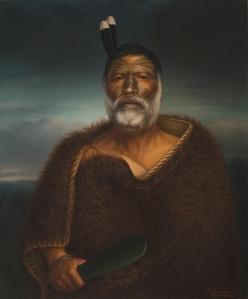 Gottfried Lindauer, « Eru Tamaikoha Te Ariari », 1903. Huile sur toile, 86,7 x 71,4 cm. © Auckland Art Gallery Toi o Tāmaki, don de H. E. Partridge, 1915.