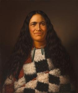 Gottfried Lindauer, « Huria Matenga Ngarongoa (Julia Martin) », 1874. Huile sur toile, 67,5 x 56 cm. © Auckland Art Gallery Toi o Tāmaki, don de H. E. Partridge, 1915.