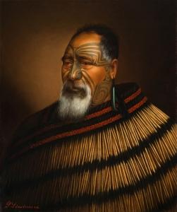 Gottfried Lindauer, « Paora Tuhaere », 1895. Huile sur toile, 67,7 x 56,3 cm. © Auckland Art Gallery Toi o Tāmaki, don de H. E. Partridge, 1915.