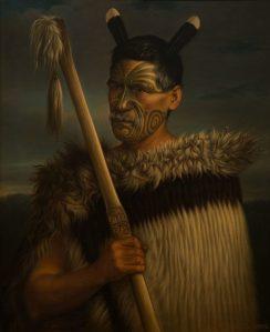 Gottfried Lindauer, « Rewi Manga Maniapoto », huile sur toile, 1882. © Auckland Art Gallery Toi o Tāmaki.Don de H. E. Partridge, 1915. Réf. : 1915/2/32.