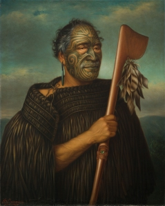 Gottfried Lindauer, « Tamati Waka Nene », 1890. Huile sur toile, 88 x 70 cm. © Auckland Art Gallery Toi o Tāmaki, don de H. E. Partridge, 1915.