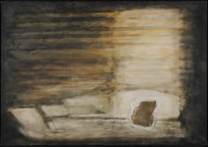 Joseph Sima, Orphée ocre, 1958. Hst, 97,5 x 194,5 cm. Paris Centre Pompidou, MNAM-CCI. © ADAGP, Paris 2015. Photo P. Tissier.