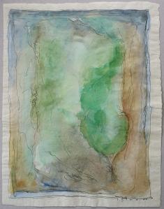 Joseph Sima, Sans titre, 1960, aquarelle sur papier japon, 32 x 25 cm. Coll. privée, Prague. © ADAGP, Paris 2015. Photo. A. Ricci.