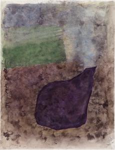 Joseph Sima, Sans titre, 1960, aquarelle sur papier, 73 x 55 cm. Musée de l'Hospice Saint-Roch, Issoudun, Donation Cécile Reims et Fred Deux, 2002. © ADAGP, Paris 2015. Photo. A. Ricci.