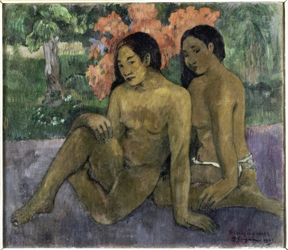 « Et l'or de leur corps », Paul Gauguin, Atuona, Hiva Oa, îles Marquises, 1901. Huile sur toile, 97 x 104 cm. © RMN Grand Palais, musée d'Orsay, Inv. RF 1944.2. Photo : H. Lewandowski.