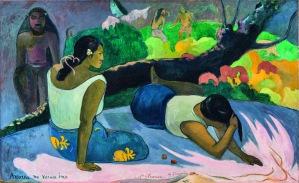 « Arearea no varua ino » (Le plaisir de l'esprit du mal), Paul Gauguin, 1894. Huile sur toile, 60 x 98 cm. © Ny Carlsberg Glyptotek, Copenhague, Danemark.