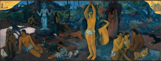 « D'où venons-nous ? Que sommes-nous ? Où allons-nous ? », Paul Gauguin, 1897-1898. Huile sur toile, 139,1 x 374,6 cm. © Boston Museum of Fine Arts, Tompkins Collection, Inv. 36.270-W.561.