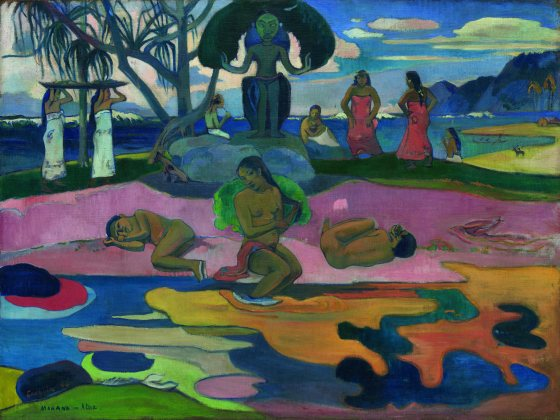« Mahana no atua » (Le Jour de Dieu), Paul Gauguin, 1894. Huile sur toile, 68,3 x 91,5 cm. © Chicago, Art Institute of Chicago, Helen Birch Bartlett Memorial Collection. Inv. 1928.198-W.513.