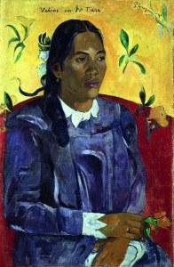 « Vahine no te tiare » (La femme à la fleur), Paul Gauguin, novembre-décembre 1891. Huile sur toile, 70,5 x 46,5 cm. © Copenhague, Ny Carlsberg Glyptotek. Inv. NCG MIN 1828-W.420 ; F.66.