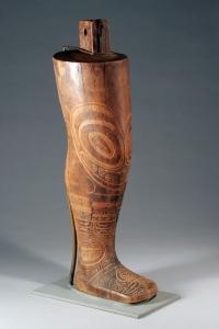 Modèle de tatouage, Îles marquises, vers 1860. Bois. H. : 56,5 cm. Ex-coll. Julius Carlebach Gallery, New York. © Denver Art Museum, Inv. 1948.795.