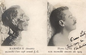 Pierre Loti, 1909, carte-photo.