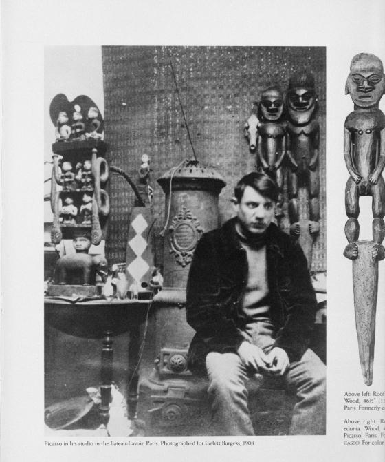 Pablo Picasso dans l'atelier du Bateau-Lavoir