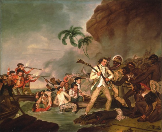 Death of Captain James Cook par George Carter 1783