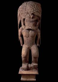 Grande idole (ki'i) de temple représentant le dieu Kū (Kūkā'ilimoku), Hawaii, début du XIXe siècle. Bois de l'arbre à pain. H. : 199,4 cm. © Don de John T. Prince, 1846. The Peabody Essex Museum, Salem. Inv. E12071.
