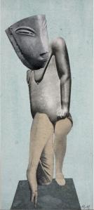 H. Höch Aus einem ethnographischen Museum VIII Denkmal I