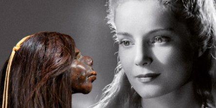 """MQB. Affiche de l'exposition anthropologique : """"Chveux chéris. Du 18 septembre 2012 au 14 juillet 2013."""