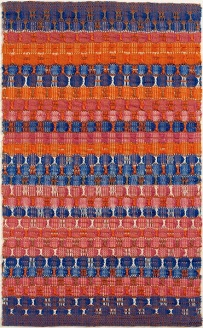 Anni Albers (1899 1994), « Red and Blue Layers », 1954. Coton. Dim. : 61,6 x 37,8 cm. © The Josef and Anni Albers Foundation/Artists Rights Society (ARS), New York.